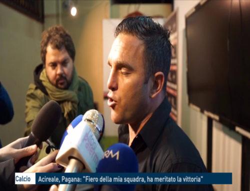 """Calcio – Acireale, Pagana: """"Fiero della mia squadra, ha meritato la vittoria"""""""