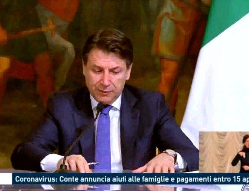 Roma: Coronavirus, Conte annuncia aiuti alle famiglie e pagamenti entro il 15 Aprile