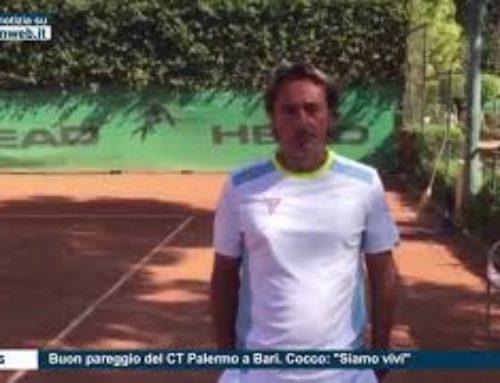 """Tennis – Buon pareggio del CT Palermo a Bari. Cocco: """"Siamo vivi"""""""