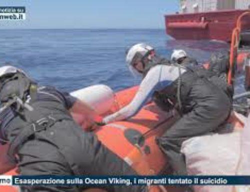 Palermo – Esasperazione sulla Ocean Viking, i migranti tentato suicidio