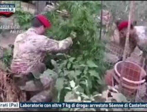 TGMED 23.09.20 VILLAFRATI (PA) – LABORATORIO CON OLTRE 7 KG DI DROGA: ARRESTATO 56ENNE DI CASTELVETRANO