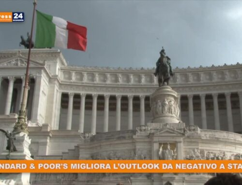 S&P migliora l'outlook dell'Italia da negativo a stabile
