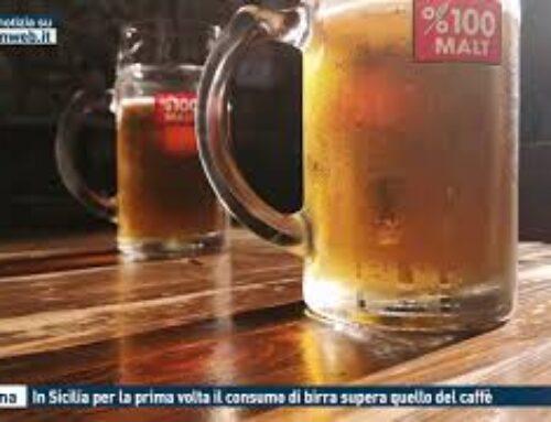MESSINA – IN SICILIA PER LA PRIMA VOLTA IL CONSUMO DI BIRRA SUPERA QUELLO DEL CAFFE'