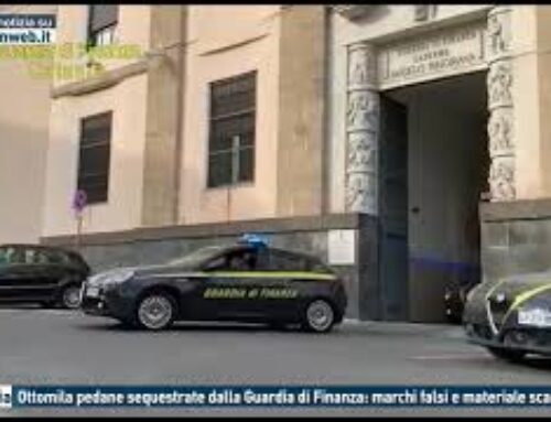 TGMED 28.10.20 CATANIA – OTTOMILA PEDANE SEQUESTRATE DALLA GUARDIA DI FINANZA: MARCHI FALSI E MATERIALE SCADENTE