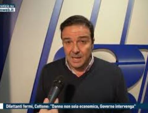 """TGMED 28.10.20 CALCIO – DILETTANTI FERMI, COTTONE: """"DANNO NON SOLO ECONOMICO, GOVERNO INTERVENGA"""""""