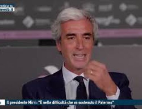 """TGMED 21.10.20 CALCIO – IL PRESIDENTE MIRRI: """"E' NELLE DIFFICOLTA' CHE VA SOSTENUTO IL PALERMO"""