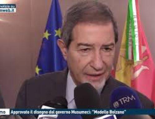 """TGMED 29.10.20 PALERMO – APPROVATO IL DISEGNO DAL GOVERNO MUSUMECI: """"MODELLO BOLZANO"""""""