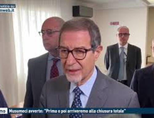 """TGMED 28.10.20 PALERMO – MUSUMECI AVVERTE: """"PRIMA O POI ARRIVEREMO ALLA CHIUSURA TOTALE"""""""