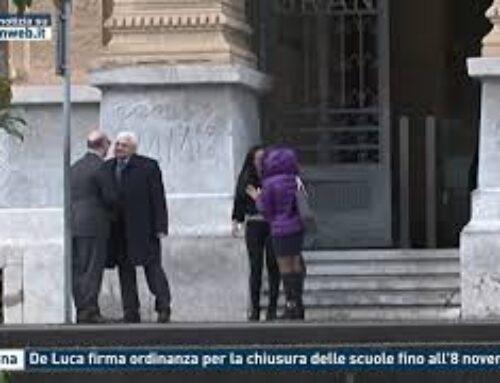 TGMED 31.10.20 MESSINA – DE LUCA FIRMA ORDINANZA PER LA CHIUSURA DELLE SCUOLE FINO ALL'8 NOVEMBRE
