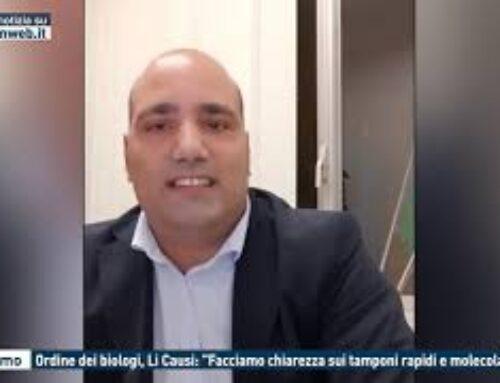 """TGMED 27.10.20 PALERMO – ORDINE DEI BIOLOGI, LI CAUSI: """"FACCIAMO CHIAREZZA SUI TAMPONI RAPIDI E MOLECOLARI"""""""