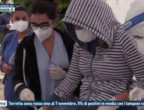 TGMED 31.10.20 PALERMO – TORRETTA ZONA ROSSA SINO AL 7 NOVEMBRE, 5% DI POSITIVI IN MEDIA CON I TAMPONI RAPIDI