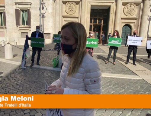 Coronavirus, flashmob Fdi per dare voce agli italiani