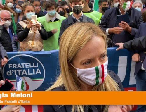 """Fdi in piazza, Meloni """"Settore turistico abbandonato dal Governo"""""""