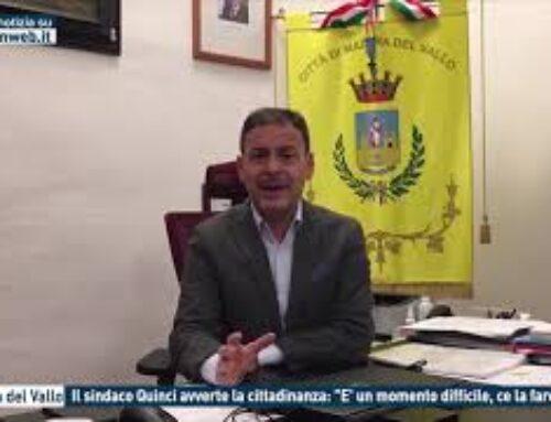 """TGMED 23.11.20 MAZARA DEL VALLO – IL SINDACO QUINCI AVVERTE LA CITTADINANZA: """"E' UN MOMENTO DIFFICILE, CE LA FAREMO"""""""
