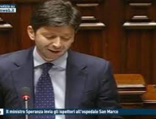 TGMED 23.11.20 CATANIA – IL MINISTRO SPERANZA INVIA GLI ISPETTORI ALL'OSPEDALE SAN MARCO