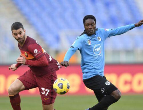 Roma-Spezia 4-3 decide Pellegrini, Fonseca torna a sorridere