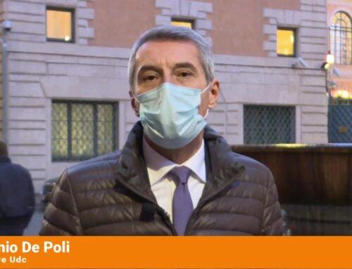 """De Poli (Udc) """"No giochi di palazzo, stiamo nel centrodestra e votiamo no a fiducia"""""""