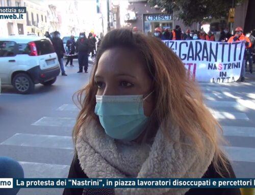 """Palermo. La protesta dei """"Nastrini"""", in piazza lavoratori disoccupati e percettori Rdc"""