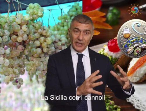 Cannoli e tortellini su 2 monete, omaggio all'enogastronomia