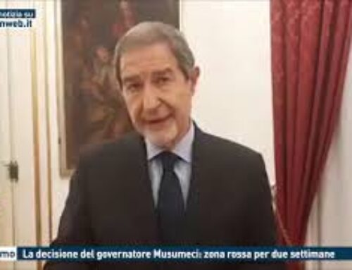 PALERMO – LA DECISIONE DEL GOVERNATORE MUSUMECI: ZONA ROSSA PER DUE SETTIMANE