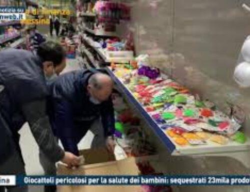 MESSINA – GIOCATTOLI PERICOLOSI PER LA SALUTE DEI BAMBINI: SEQUESTRATI 23MILA PRODOTTI