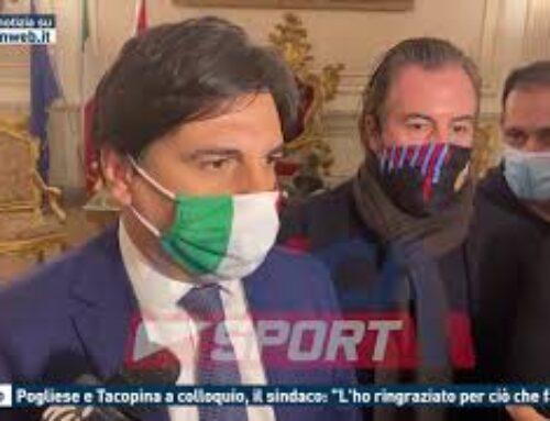 """CALCIO – POGLIESE E TACOPINA, IL SINDACO: """"L'HO RINGRAZIATO PER CIO' CHE FARA'"""