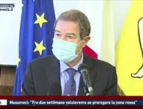 """CATANIA – MUSUMECI: """"FRA DUE SETTIMANE VALUTEREMO SE PROROGARE LA ZONA ROSSA"""""""