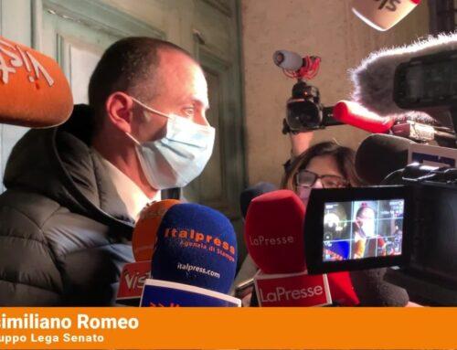 """Romeo """"Il Governo non ha i numeri"""""""
