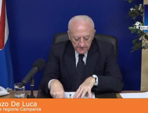 """De Luca """"Campania sia prima regione Covid free"""""""
