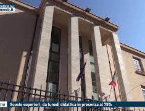 PALERMO – SCUOLE SUPERIORI, DA LUNEDI' DIDATTICA IN PRESENZA AL 75%