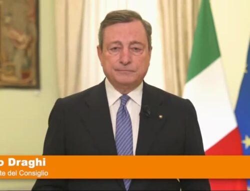"""Covid, Draghi """"La via d'uscita non è lontana"""""""