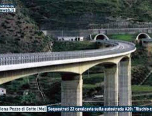 """Barcellona Pozzo di Gotto (Me), sequestrati 22 cavalcavia sulla autostrada A20: """"Rischio crollo"""""""
