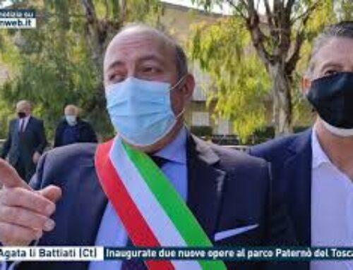 Sant'Agata li Battiati (Ct), inaugurate due nuove opere al parco Paternò del Toscano