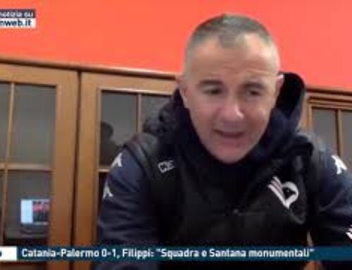 "Calcio, Catania-Palermo 0-1, Filippi: ""Squadra e Santana monumentali"""