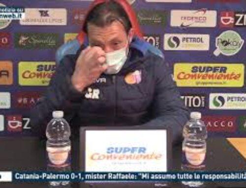 """Calcio, Catania-Palermo 0-1, mister Raffaele: """"Mi assumo tutte le responsabilità"""""""