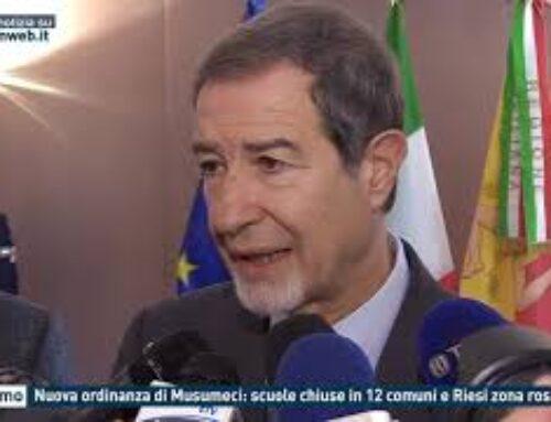 Palermo, nuova ordinanza di Musumeci: scuole chiiuse in 12 comuni e Riesi zona rossa