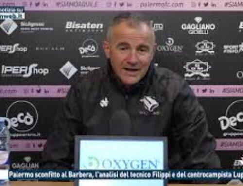 Calcio, Palermo sconfitto al Barbera, l'analisi del tecnico Filippi e del centrocampista Luperini