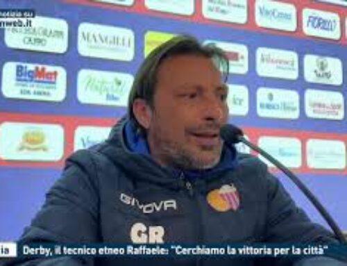 """Catania, derby, il tecnico etneo Raffaele: """"Cerchiamo la vittoria per la città"""""""