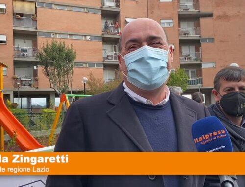 Zingaretti inaugura area verde complesso Ater Roma