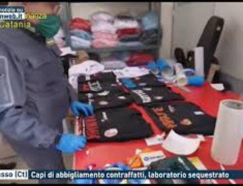 Belpasso (Ct) – Capi di abbigliamento contraffatti, laboratorio sequestrato