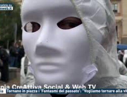 """Catania – Tornano in piazza i 'Fantasmi del passato': """"Vogliamo tornare alla vita"""""""