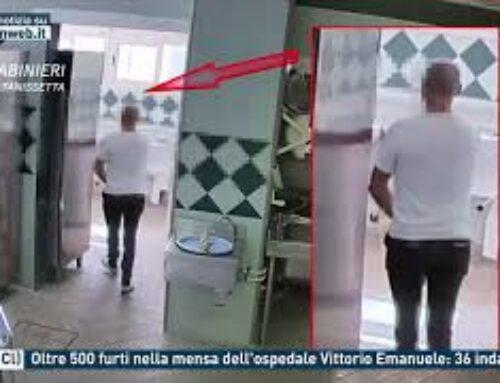 Gela (Cl) – Oltre 500 furti nella mensa dell'ospedale Vittorio Emanuele: 36 indagati