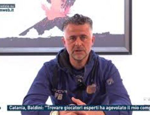 """Calcio – Catania, Baldini: """"Trovare giocatori esperti ha agevolato il mio compito"""""""