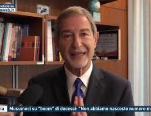 """Catania – Musumeci su """"boom"""" di decessi: """"Non abbiamo nascosto numero morti"""""""