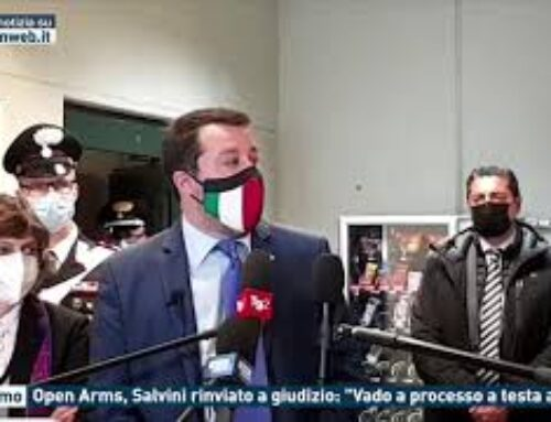 """Palermo – Open Arms, Salvini rinviato a giudizio: """"Vado a processo a testa alta"""""""