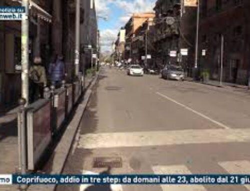 Palermo – Coprifuoco, addio in tre step: da domani alle 23, abolito dal 21 giugno