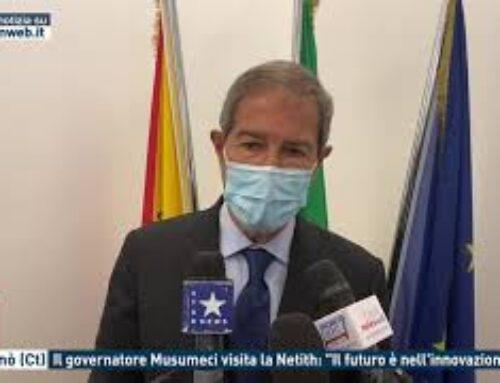 """Paternò (Ct) – Il governatore Musumeci visita la Netith: """"Il futuro è nell'innovazione"""""""