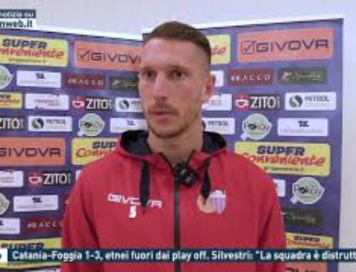 """Calcio – Catania-Foggia 1-3, etnei fuori dai play off. Silvestri: """"La squadra è distrutta"""""""