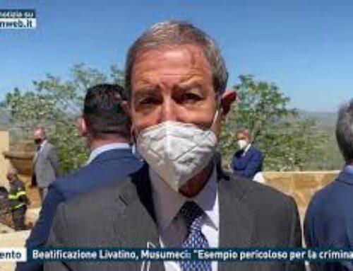 """Agrigento – Beatificazione Livatino, Musumeci: """"Esempio pericoloso per la criminalità"""""""