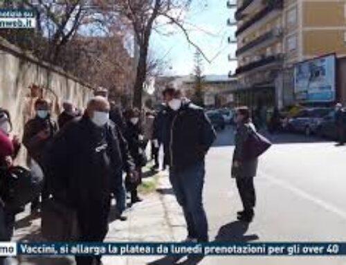 Palermo – Vaccini, si allarga la platea: da lunedì prenotazioni per gli over 40